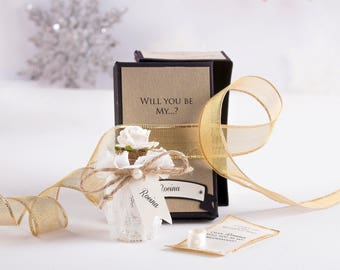 Will you be My Bridesmaid Message in a Bottle Proposal. Asking Bridesmaids. The ORIGINAL ONE.