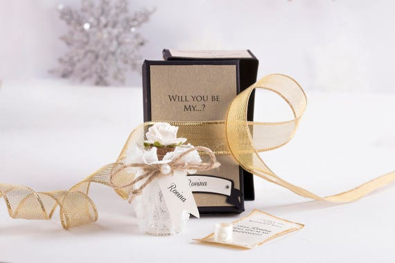 Bridesmaid Message in a Bottle Proposal. Asking Bridesmaids. Will You Be My Bridesmaid Proposal.