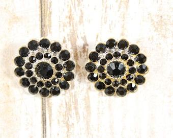 Black rhinestone,Rhinestone flat back button,Rhinestone embellishment,Wedding brooch,Wedding inviation,DIY rhinestones,Rhinestone button