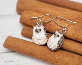 Hedgehog Earrings - Display Item - Made To Order