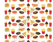 Kawaii Fast Food Planner Stickers/Happy Planner Stickers/Cute Kawaii Fast Food/ Happy Planner Stickers/ HP Stickers/Instant Download(SF-035)