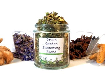 Green Garden Seasoning Blend American Vegetable Herb Spice Mix Chef Foodie Gift