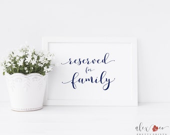 Reserved for Family Printable. Reserved for Family Sign. Reserved Pew Sign. Reserved Row Sign. Reserved Wedding Sign. Reserved Sign Wedding.