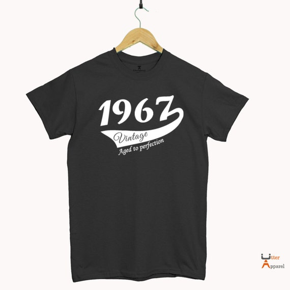 1967 49th Birthday gift for him or her,  49 years old Party Shirt for man or woman vintage 1967, aged to perfection, 49th birthday party tee