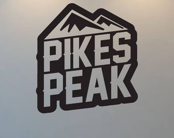 Pikes Peak Wall Decal, Mountain, Free Shipping