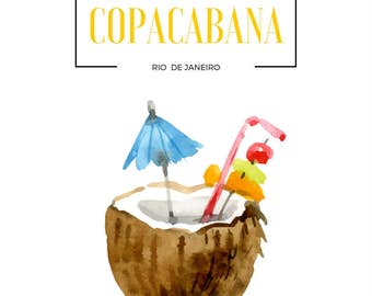 Copacabana Digital Print