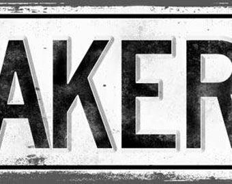 BAKERY Metal Street Sign, Vintage, Retro    MEM2002
