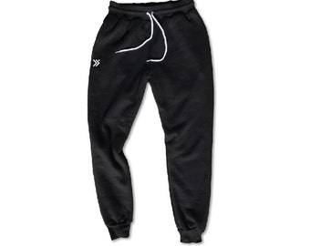 EVERFITTE LOGO Unisex Drawstring Joggers, Sweatpants, Athleisure, Gym Style, Graphic, Screen Print, Workout Pants