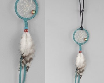 Dream Catcher Necklace, Dreamcatcher Jewelry, Feathers Necklace, Boho Necklace, Native Style Necklace, Turquoise Necklace
