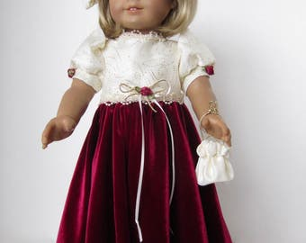 American Girl Doll: Lush Burgundy Gown
