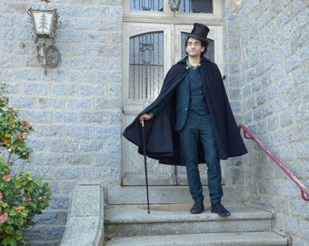 "Semi-long Cape for man ""Gentleman"" inspiration heyday / steampunk"