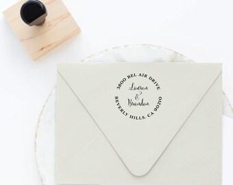 Round Address Stamp, Return Address Stamp, Self Inking Stamp, Self Ink Stamp, Circle Return Address Stamp, Personalized Stamp, Custom Stamp