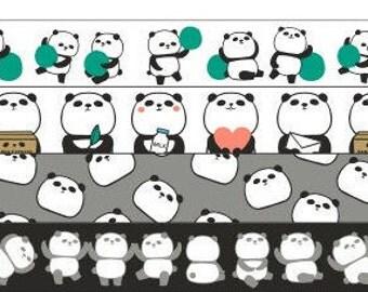 Panda washi tape set (4 roll)