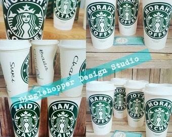 Personalized Custom Starbucks Reusable Travel Cup Mug
