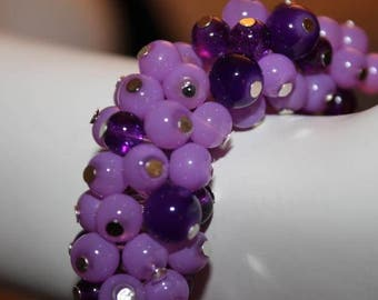 Jewelry Purple, Bracelet Purple, Beaded Jewelry, Beaded Bracelet, Bracelet Pearl Purple, Purple Beaded Jewelry, Purple Beaded, Purple Pearls