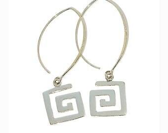 E112 -  Sterling Silver 925 Square Earrings