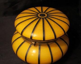 Art nouveau Powolny glass bonbonniere, trinket box, Austria, early1900 for Loetz, Lötz