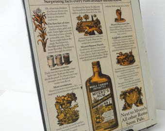 Drywall Art - Vintage Playboy Meyers Rum Ad - Playboy December 1978