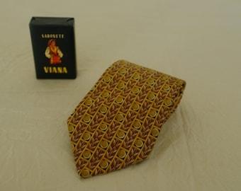 Lanvin tie man, vintage silk tie, father's day gift