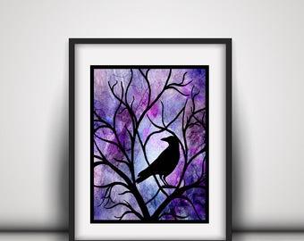 Raven Wall Decor - Raven Papercut - Raven Home Decor - Raven Decor - Black Raven Art - Crow Artwork - Raven Wall Art - Black Crow Decor