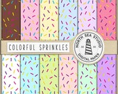 Des choses douces, arrose arrose numérique de papier, coloré à motifs, arrose fond, arrose de bonbons, BUY5FOR8