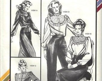 Stretch & Sew 307 Victorian Blouses Sewing Pattern sz 28 thru 44 Bust Uncut