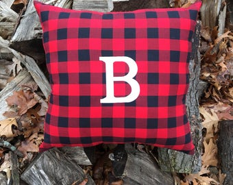 Lumberjack Pillow, Lumberjack Nursery, Lumberjack Crib bedding, Buffalo Plaid pillow, Personalized pillow, Monogram pillow, Plaid pillow