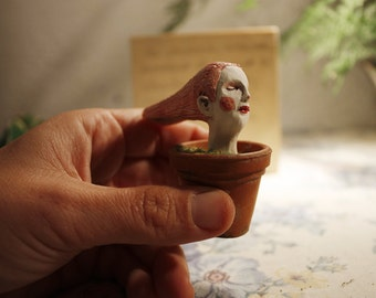 Rooted. Sculpture of porcelain.