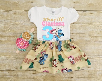 Sheriff Callie Outfit, Sheriff Callie Birthday Shirt, Sheriff Callie Shirt, Callie Dress, Sheriff Callie Tutu, Sheriff Callie Personalized