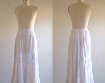 Edwardian skirt- White skirt- Cotton skirt- Lace skirt- Antique skirt- Antique lace- 1900s skirt- Wedding skirt- 1910s skirt- Maxi skirt