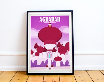 Agrabah - Aladdin - Disney Travel Poster - Poster Print - Disney Art - Wall Art Poster Print (Available In Many Sizes)