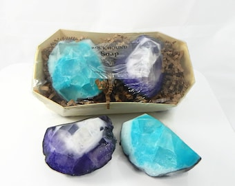 Two Piece Geode Soap Gift Set