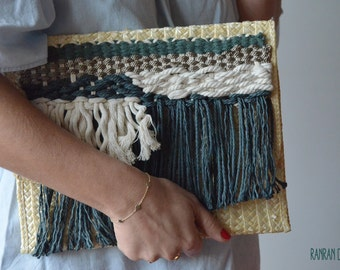 Straw bag clutch ranran design