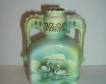 Signed Austria 6 Inch Swan Vase