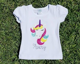 Unicorn Shirt, Unicorn Birthday Shirt, Unicorn Fairytale Shirt, Glitter Unicorn Shirt