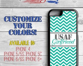Air Force Girlfriend Phone Case - Chevron Phone Case - Airforce girlfriend iPhone case - iPhone 5 - iPhone 5s - iPhone 6 - iPhone 6 Plus
