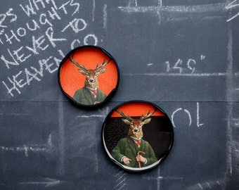 Fridge magnets wildlife, Stag fridge magnets, deer fridge magnets,  cute fridge magnets, upcycled recycled repurposed magnets, hunting gifts