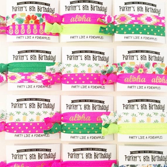 Pineapple Vibes Birthday Party Hair Tie Favors   Spa Party Birthday Hair Tie Favors, Personalized Spa Party Favors, Girls Teen Tween Tie Dye