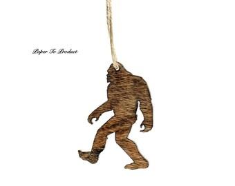 Sasquatch Skunk Ape Ornament Christmas Holidays Custom Laser Cut & Engraved Wood