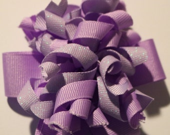 SALE: Shades of Purple Korker Hairbow, Purple Hair Bow, Light Purple Hair Bow, Dark Purple Hair Bow, Toddler Hair Bow, Girls Hair Bow