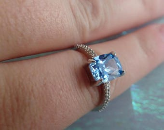 Baby Blue costume ring size 7