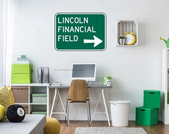 Lincoln Financial Field - Philadelphia Eagles Decal - Philadelphia Eagles Decor - Football Decal - Football Nursery