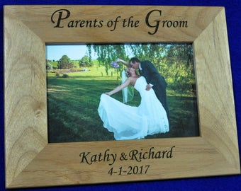 Parents Of The Groom ~ Wedding Gift For Parents ~ Custom Picture Frame ~ Grooms Parents Gift ~ Mother & Father Of The Groom ~ Wedding Frames