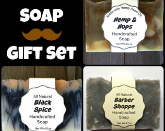 Man Soap Gift Set - Soap for Men Handmade Soap - Gift for Man - Handcrafted Soap - Mens Grooming - Men Soap - Man Soap  Gift for man