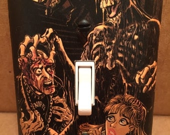 Return of the Living Dead Slime Monster Light Switch Cover (Handmade, Horror)