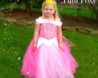Sleeping Beauty Tutu Dress, Sleeping Beauty Costume, Sleeping Beauty Dress, Pink Princess Dress, Princess Tutu Dress, Pink Tutu