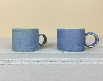 Matt Blue Coffee Cups
