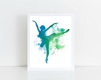 Ballerina Art, Ballerina Printable, Girls Room Printable, Girls Room, Dancer Art, Dancer Printable, Printable Art