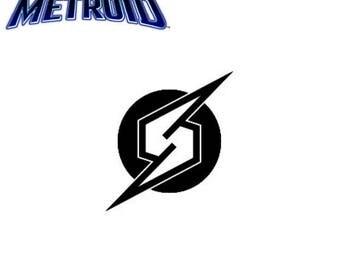 Metroid Logo Vinyl Decal