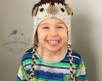 NEW! Crocheted hedgehog hat for kids, knitted porcupine beanie for babies 0 to 12 months old